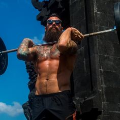 Dave Driskell full thick dark beard and mustache beards bearded man men tattooed tattoos lifting weightlifting fitness muscled muscles ripped built #beardsforever