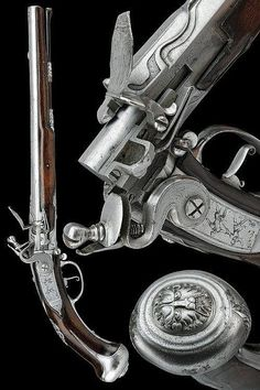 A extremely rare breech-loading flintlock pistol, Holland late 17th century.
