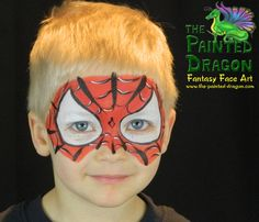 Photo Gallery - The Painted Dragon -- Face painting for the Quad Cities and surronding areas. Dragon Face Painting, Face Painting For Boys, Boy Face, Child Face, Spider Man Face Paint, Quad Cities, How To Train Your Dragon, Painting Inspiration, Spiderman
