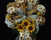 Burlap With Sunflowers Wreath.