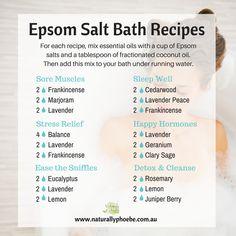 Epsom salt bath recipes with essential oils