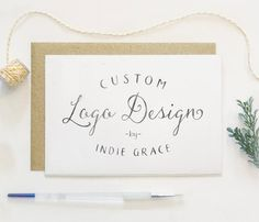 Classic Custom Logo Design by Indie Grace by IndieGrace on Etsy