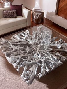Phillips Collection - Square Root Coffee Table, Silver Leaf