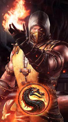 Mortal kombat-scorpion art,so cool. Mortal Kombat X Scorpion, Sub Zero Mortal Kombat, Raiden Mortal Kombat, Escorpion Mortal Kombat, Scorpion Halloween, Mortal Kombat X Wallpapers, Gaming Wallpapers, Video Game Characters, Video Game Art
