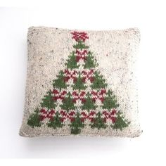 Fair Isle Christmas Tree Cushion