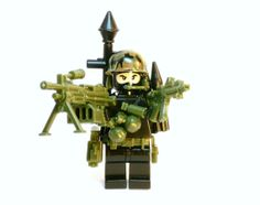Black Jungle Camo Army Military Tactical Man made with Lego part and Custom pieces by BrickEclipse