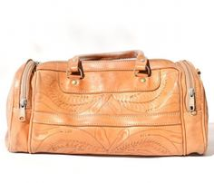 Hand-tooled Leather Bag