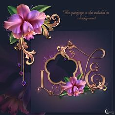 Moonbeam's 'Romantic Orchids' - a package designed with digitally painted vibrantly colored Cataleya orchids is presented in rich pink and purple palette! Celebrate love with these soft blooms and surprise your loved ones with derivative designs created with this unique original design resource. This package is designed with ornate Victorian flourishes that truely compliment the subtle folds and curling petals of this exotic flower. The product comes with a selection of pre-made backgrounds… Flower Frame, Flower Art, Exotic Flowers, Beautiful Flowers, Pin Up Pictures, Photo Frame Design, Purple Palette, Floral Artwork, Borders And Frames
