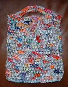 This is neat and if you crochet or knit you can do something similar, I have made a weaved rug from plastic bags before.
