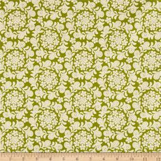 Michael Miller Strawberry Moon Petit Henna Garden Meadow from @fabricdotcom  Designed by Sandi Henderson for Michael Miller Fabrics, this cotton print collection features gorgeous saturated prints that are perfect for quilting, apparel, and home decor accents. Colors include green and cream.