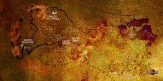 La Carte du Septième Monde, sur lequel les Six Portes se sont ouvertes.  #heroicfantasy #epicfantasy