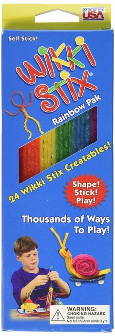 Wikki Stix - Rainbow Pak or Traveler Playset | Brats On Board  Perfect travel craft activity for tactile kids on the road.  http://bratsonboard.com/products/wikki-stix-rainbow-pak-or-traveler-playset  #WikkiStix #TravelCraft #CampingCraft