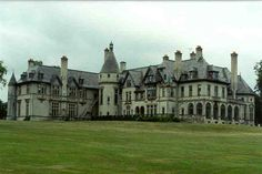 """Collinswood Mansion  -  """"Dark Shadows""""  (1966-1971)  -  in the show, the house was built by Joshua Collins in 1795 near the seaside town of Collinsport, Maine  -  the house USED for Collinswood exteriors in the original tv show was actually the lovely 1920s Carey mansion on Ruggles Avenue in Newport Rhode Island."""