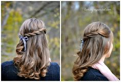 more ideas for half back hair from Taming Rapunzel