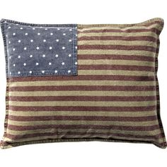 Add a bold touch to your living room or library with this lovely cotton pillow, perfect for fireworks-filled celebrations and patriotic vignettes.