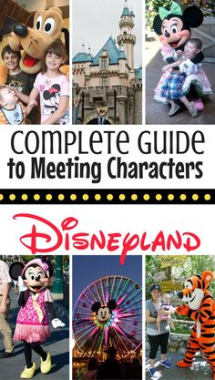 Complete Guide to Meeting Mickey & Other Disney Characters at Disneyland Meeting Disney characters top on your vacation wishlist? Here's the complete guide to meeting Disney characters in (and outside) of the Parks! Disneyland Souvenirs, Disneyland Paris, Disneyland Tips, Disneyland California, Disneyland Resort, Vacation Ideas, Vacation Wishes, Disney Vacation Club, Disney Cruise Line