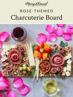 Elevate your charcuterie board with salami roses and other finger food from the Harry & David meat and cheese basket. Cheese Baskets, Harry And David, David Rose, Easy Entertaining, Meat And Cheese, Charcuterie Board, Finger Foods, Wines, Flower Arrangements