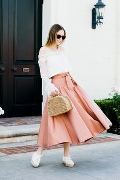 Alyssa Campanella The A List // Rebecca Taylor skirt, Kayu bag, Loeffler Randall shoes, Style Mafia top