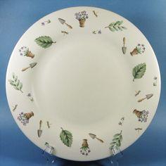 Pfaltzgraff Perennials NATUREWOOD 12-in. Round Serving Platter Chop Plate NEW #PfaltzgraffPerennials