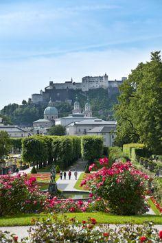Jardines de Mirabell, Salzburgo, Austria