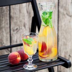 Eau fruitée aux nectarines