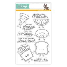 Simon Says Clear Stamps FUNNY FOOD SSS101699 New Beginnings