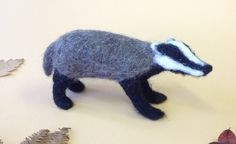 Needle Felting Kit Contains all you need to make one miniature sculpture Not suitable for young chil Needle Felting Kits, Needle Felted Animals, Felt Animals, Cool Pets, Badger, Pet Toys, Diy And Crafts, Dinosaur Stuffed Animal, Cool Style