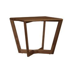 Elegant Copeland Furniture Fusion Natural Walnut End Table