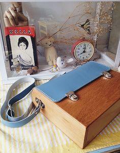 GRAV GRAV - Wooden Blue Satchel Bag #gravgravco #satchelbag #woodenbag
