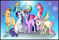 Mane 6 as wolves and I look awesome!! BTW I'm Pinkie Pie cause I'm just like her. Literally JUST like her!