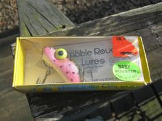 Rabb le Rouser Lure, Baby Rouster, Dives To 12 Feet, Two Triple Hooks, Pink And Black, 1977 Fishing Lure, Original Box, By Doug Parker by Junkblossoms on Etsy