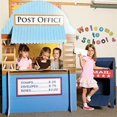 dramatic play post office I'm going to need lots of large cardboard pieces