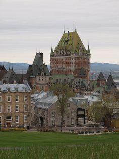 Old Quebec city skyline.