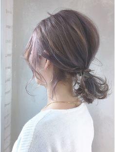 アルバム ハラジュク(ALBUM HARAJUKU) バレイヤージュカジュアルアレンジ_ba63373 Short Hair Up, Hairdos For Short Hair, Short Hair Ponytail, Korean Short Hair, Ponytail Hairstyles, Shot Hair Styles, Hair Arrange, Hair Color Balayage, Tips Belleza