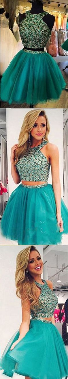 Short Homecoming Dresses,2 piece Homecoming Dress,2 pieces Party Dresses
