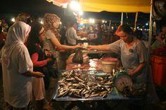 Night Market in Kota Kinabalu, Malaysia John Kidly