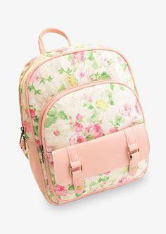 Cute Floral Pink Backpack
