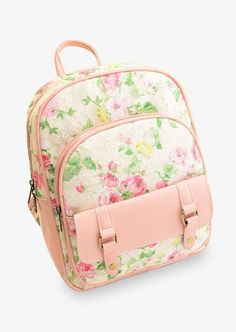 Cute Floral Pink Backpack