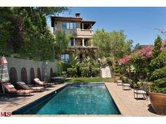 Mischa Barton's Villa 2670 Bowmont Dr, Beverly Hills, CA 90210 Mischa Barton, Beverly Hills Houses, Rich Home, Mediterranean Design, Celebrity Houses, Celebrity News, Tom Cruise, Elle Decor, Luxury Real Estate