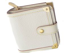 Louis Vuitton Off White Suhali Goatskin Leather Compact Wallet