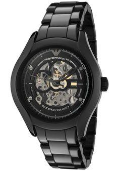 (Limited Supply) Click Image Above: Emporio Armani Women's Meccanico Silver Skeletonized & Black Dial Black Ceramic Watch Emporio Armani, Armani Men, Giorgio Armani, Casual Watches, Cool Watches, Watches For Men, Women's Watches, Wrist Watches, Pinterest For Men