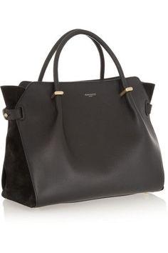 Nina Ricci Marché leather and suede tote Tote Handbags, Purses And Handbags, Simon Le Bon, Black Leather Tote, Hugo Boss, Mode Style, My Bags, Handbag Accessories, Shoe Bag
