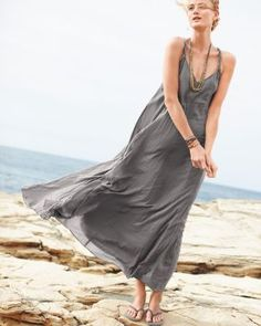 The beach and me this summer! Perfect #garnethill #summerstyle Cotton-Gauze Long Dress