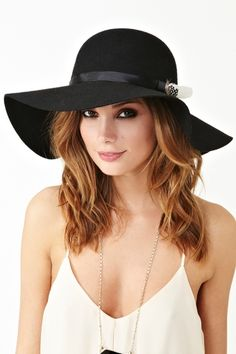 Feathered Floppy Hat