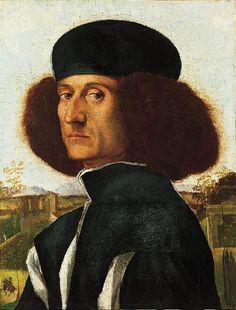 Vittore Carpaccio (c.1465-1525/1526) —  Portrait of a Venetian Nobleman,  c.1510 :  The Norton Simon Museum,  Pasadena,  USA   (499×657)