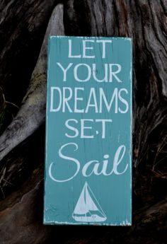 Beach Art  Beach Decor  Sailing  Nautical by CarovaBeachSignCo, $24.00