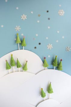 Cupcake Liner Tree Toppers DIY | Oh Happy Day!