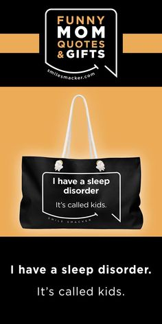 Mom's sleep disorder ~ Smack this quote onto Travel Bags & more. We're here to send a smile your way when #momlife gets crazy! Find your #smilestyle at smilesmacker.com Humour Parent, Parenting Quotes, Mom Humor, Delaware, Mommy Finger, Gifts For Wife, Gifts For Her, Motherhood Funny, Funny Mom Quotes