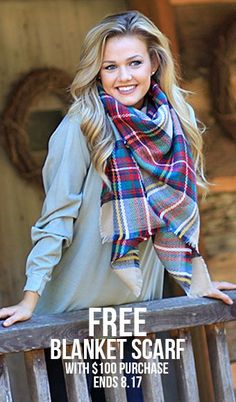 OUTERWEAR SALE!! & Free Blanket Scarf with $100 Purchase! Offer Ends 8.17  https://marleylilly.com/category/clothing/outerwear/