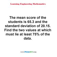 Standard Deviation, Read More, Statistics, Scores, Mathematics, At Least, Two By Two, Students, Learning